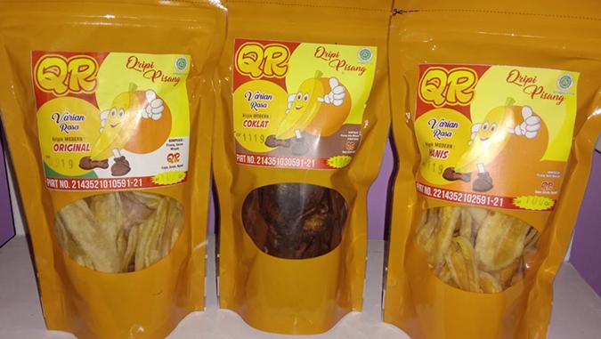 keripik pisang QR