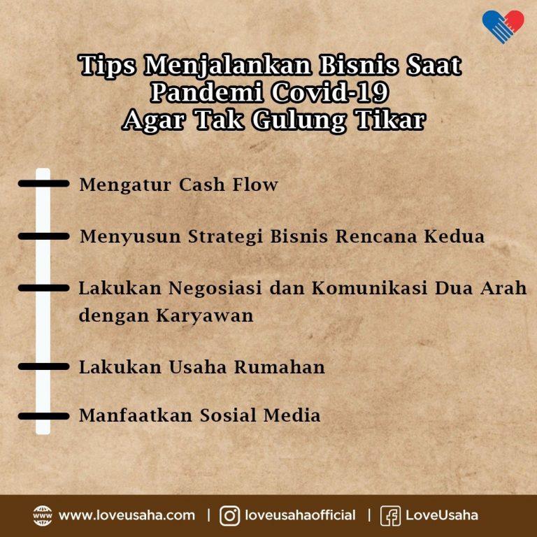 Tips Agar Usaha Bertahan Saat Pendemi Corona - loveusaha.com